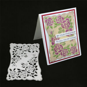 Stanzschablone-Rose-Blume-Hintergrund-Weihnachts-Hochzeit-Geburtstag-Karte-Album