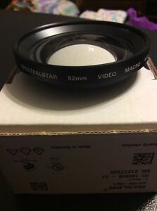 Spectralstar 52Mm Video Macro Wide Lens Japan Rare Vintage Camera Video Lens