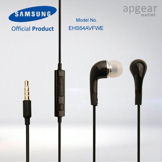 GENUINE SAMSUNG HANDSFREE HEADPHONES EARPHONES GALAXY S3 i9300 ACE NOTE BLACK