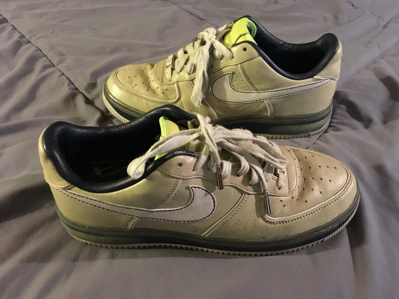NIKE Air Force One SPRM Max 07' Men's Size 12 shoes Tan 316666-201 NICE  FAST