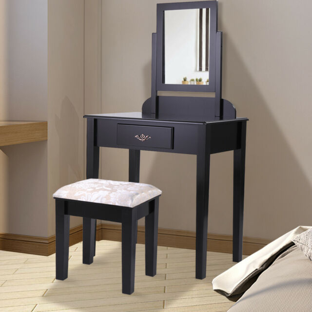 Grey Table Top Mirror Bedroom Dressing Vanity Matching Accessory *New