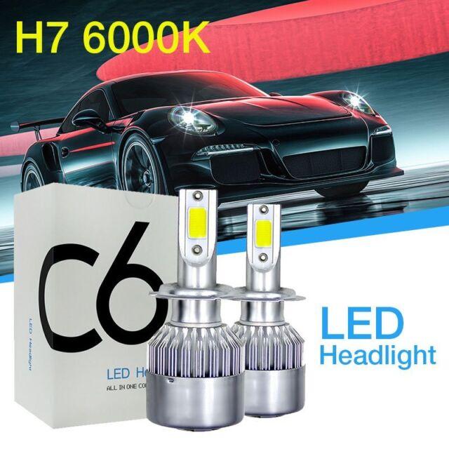 COB LED H7 Car DRL Headlight 72W HID Lamp Light Bulb 6000K Diamond White*