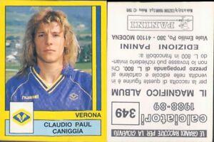 CALCIATORI PANINI 1988/89 *Figurina-sticker  N.349* VERONA-CANIGGIA *NEW