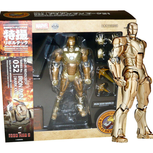 Revoltech Sci-Fi No.052 Ironman Mark21 Action Figure Marvel Japan with Tracking