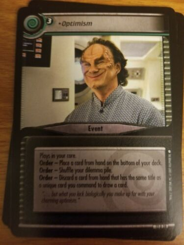 Star Trek CCG These Are the Voyages 12U28 Optimism NM-Mint TCG