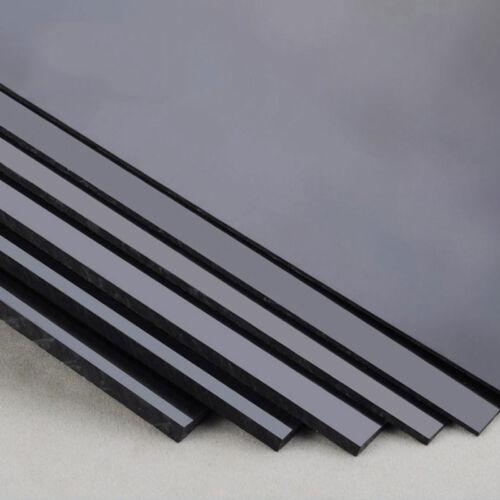 Black 1 pcs ABS Styrene Plastic Flat Sheet Plate 1.5mm x 100mm x 100mm