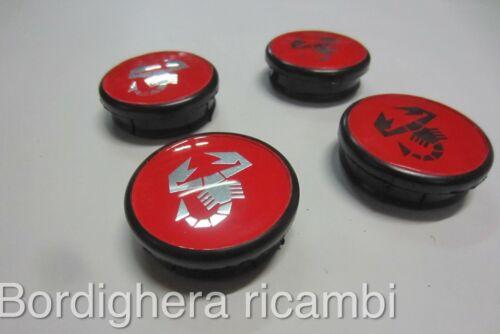 FIAT 500 595 695 ABARTH PISTA TURISMO RIVALE COPRIMOZZO CERCHI HUB CUPS WHEELS