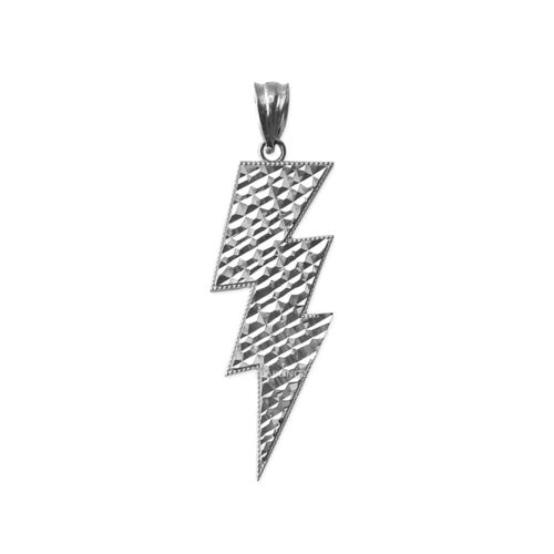 Or blanc Lightning Bolt DC Collier Pendentif