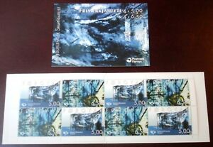 Faroe-Stamp-Booklet-27-2002-Nordic-Contemporary-Art-MNH-Excellent