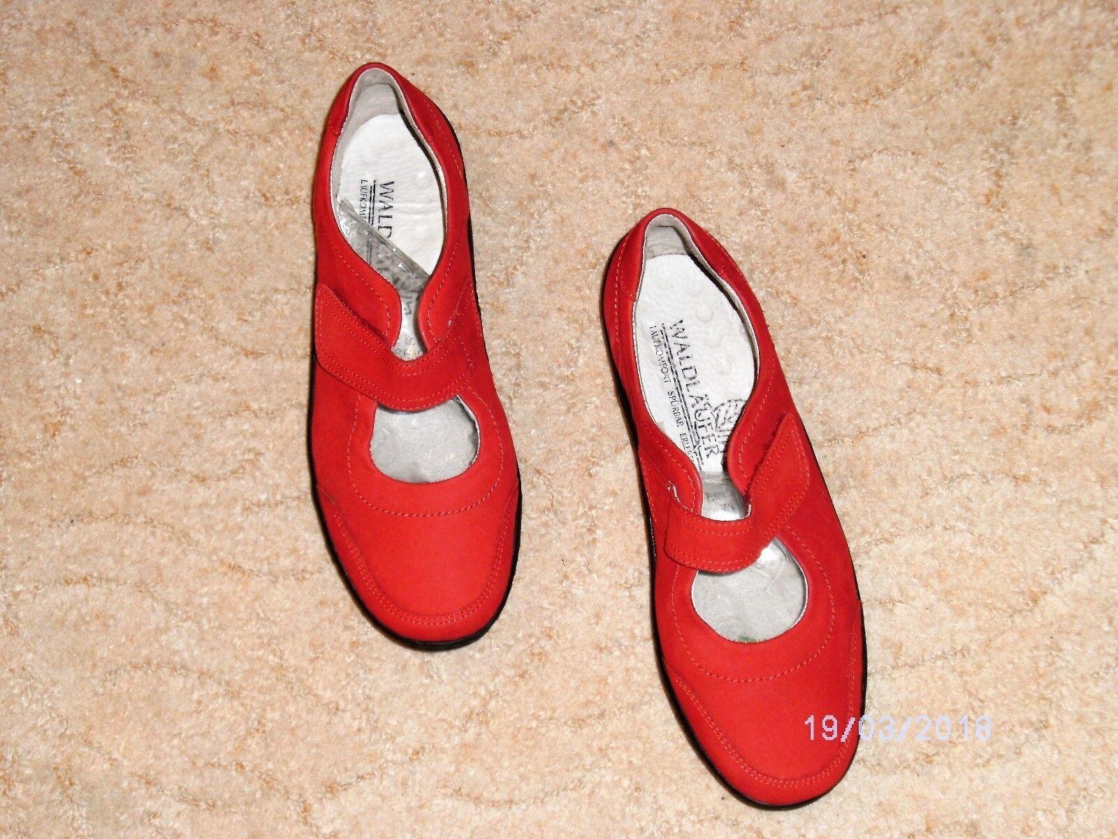 Damen Klett Leder NEU Slipper/Ballerina Waldläufer rot 37 NEU Leder aa0f12