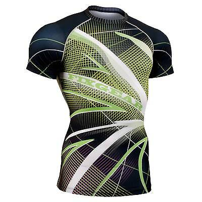 FIXGEAR CFS-71 Compression Base Layer Short Sleeve Shirts, Workout Fitness MMA