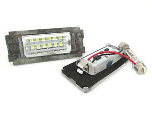 Set-Par-techo-Luces-Placa-Led-MINI-COOPER-R56-Blanco-Can-bus-NO-ERROR