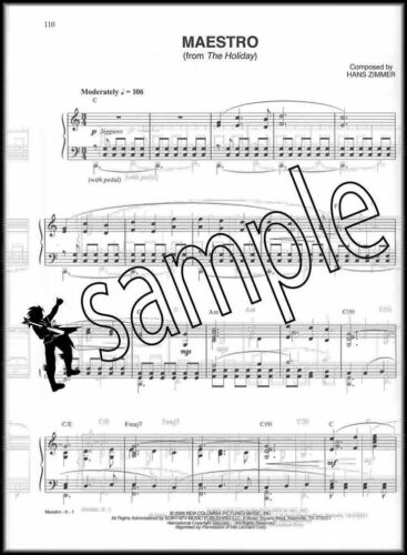 Hans Zimmer Collection Piano Solos//Piano Vocal Chords Sheet Music Book
