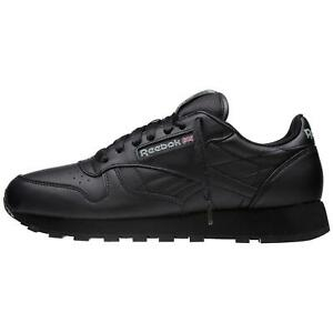 Reebok-Men-039-s-Classic-Leather-Shoes-NEW-AUTHENTIC-Black-116