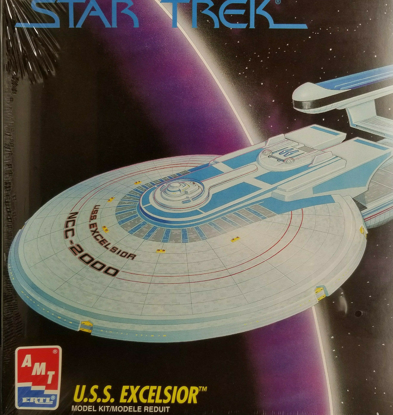 USS Excelsior Star Trek  VI the Undiscovered Country AMT Model Kit 1994 Sealed