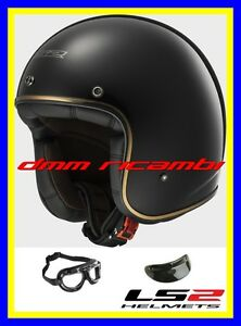 Casco-Jet-LS2-BOBBER-Tg-XL-Nero-Lucido-Bandit-Custom-Triumph-Harley-Davidson