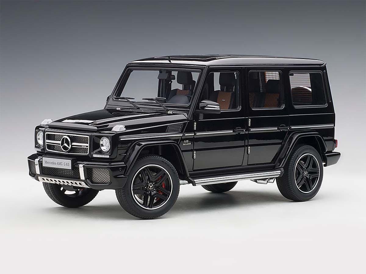 Mercedes-Benz G63 AMG Brillo Negro 1 18 Autoart 76322 totalmente nuevo lanzamiento En Caja