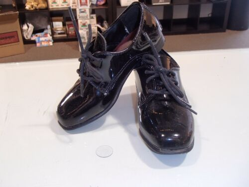 "Men's Black faux Patent Leather Formal Lace-up Tuxedo Shoes style Lace-up ""Genoa"