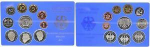 BRD Kurssatz Einzelplatte 2000 D 1Pf. bis 5 DM Polierte Platte 55667