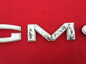 """1960-1966 60-66 """"GMC"""" Painted Grill Grille LETTERS C10 K10 Chevrolet Truck"""