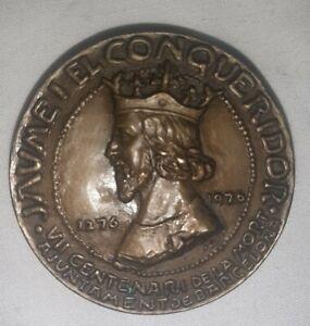MEDALKA BRONCE VII CENTANARI DE LA MORT JAUME I EL CONQUISTADOR