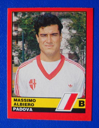FIGURINA VALLARDI CALCIATORI D/'ITALIA 1989//90 1990 N.522 ALBIERO PADOVA