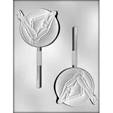 "4"" Gymnast Sports Chocolate Lollipop Candy Mold CK #6232 - New"