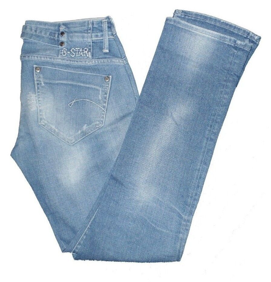 G-Star Damen Jeans Blau Midge Midge Midge Straight WMN (Destroyed Look) W30   L32 fa1b89
