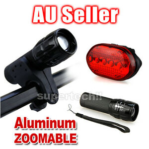 5-LED-Bike-Bicycle-Front-Head-Light-headlight-lamp-rear-tail-flashlight-torch