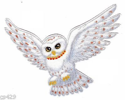 """4.5"""" HARRY POTTER LOGO OWL HEDWIG SNITCH  FABRIC APPLIQUE IRON ON CHARACTER"""