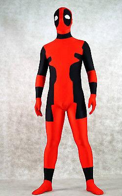 Halloween Lycra Spandex zentai costume deadpool fancy suit