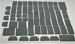 LEGO Traditional Dark Gray Plate 4x4 Lot//8