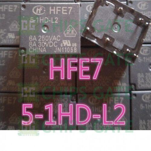 Relé electromagnético 2PCS HFE7//5-1HD-L2 8 A 250VAC 8 Pines