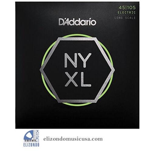 D/'Addario NYXL45105 Long Scale Light Top Medium Bottom Bass Strings 019954176846