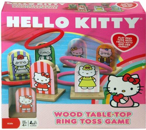 Hello Kitty Wooden Ring Toss Game Set