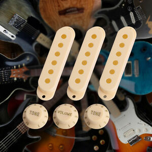 electric guitar pickup cover volume tone knob switch tip set for strat new 664218260627 ebay. Black Bedroom Furniture Sets. Home Design Ideas