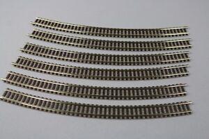 ZC2485-Fleischmann-N-1-160-train-9130-6-rail-courbe-R3-394-4-mm-30-curved-track