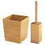 InterDesign Formbu Bath Collection Wastebasket Trash Can Bamboo