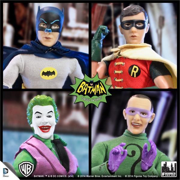 Batman - tv - serie von 1966 1, 4, 8 - zoll - mego stil - polybeutel neue zahlen