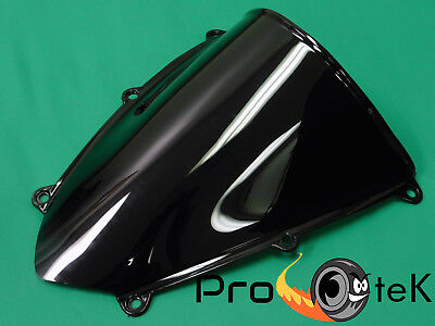 Smoke Black Double Bubble Windscreen Windshield ABS for Honda CBR600RR 2005-2006