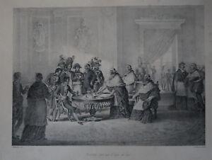 """"""" Concordat Signe Avec Le Legat Du Pape """" Champion / Motte - 1826 Couleurs Harmonieuses"""