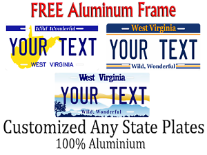 West Virginia State License Plate Personalized Custom Any Name Or Text