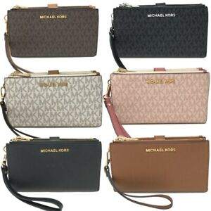 Michael-Kors-MK-Jet-Set-Travel-Double-Zip-Phone-Wristlet-Wallet