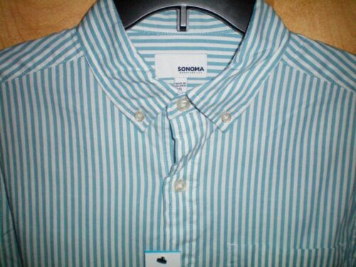 NWT NEW mens SONOMA l//s flexwear stretch casual soft touch shirt $46 retail