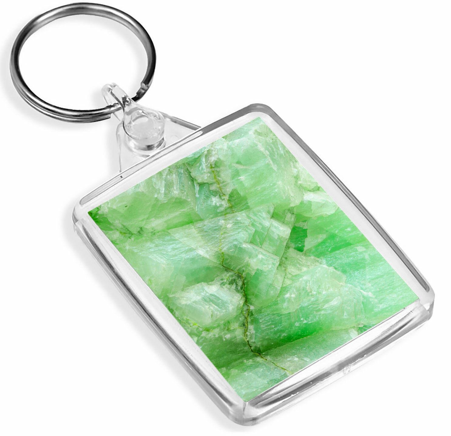 1 Efecto De Piedra Jade Piedra Verde X-Llavero-IP02-Mamá Papá Regalo para Niños #3394