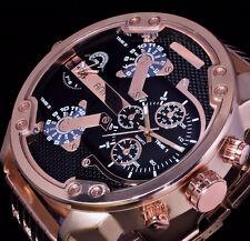 Animoo XXL Monster Watch Armband Herren Uhr Rose Gold Farbe Dual Timer 2 Werke B