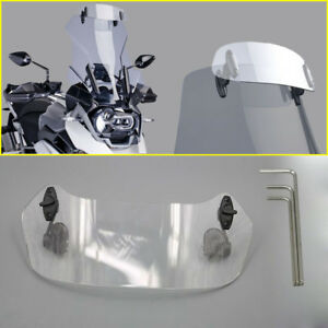 Adjustable Clip On Windshield Extension For Honda CBF600//SA All Years Clear