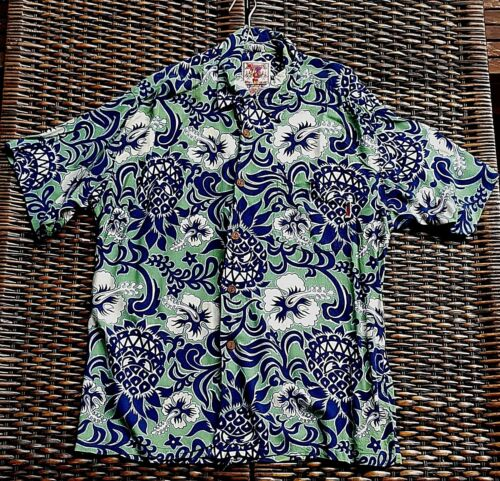 MAMBO LOUD SHIRT LARGE SIZE GARDEN OF EARTHLY DELIGHTS TROPICAL FLOWERS & BLOOMS