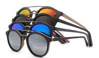 Vintage Retro Men Women Bamboo Sunglasses Polarized Wooden Fashion Glasses