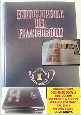 Filatelia Enciclopedia dei francobolli 2 volumi 1968 Sadea Sansoni Editore